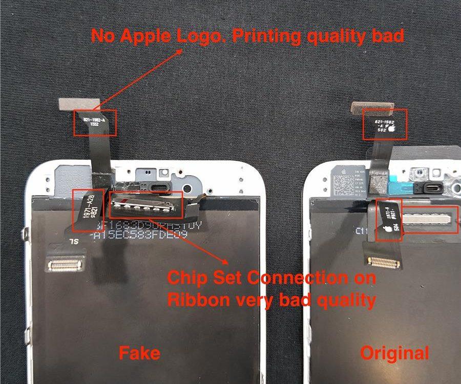 iPhone 原裝屏幕 VS 山寨屏幕
