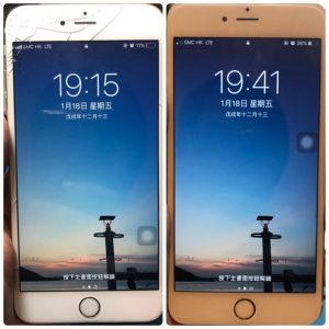 iPhone 6Plus爆玻璃更換
